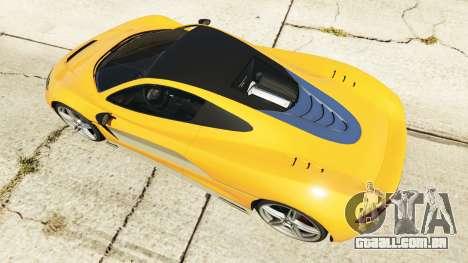 GTA 5 Progen T20 McLaren P1 traseira direita vista lateral