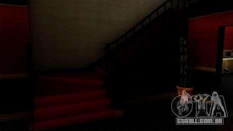 Retextured CJ de casa em estilo de Scarface para GTA San Andreas por diante tela