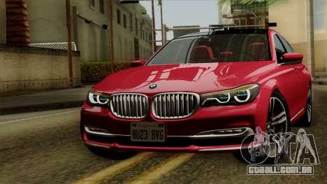 BMW 7 2015 para GTA San Andreas