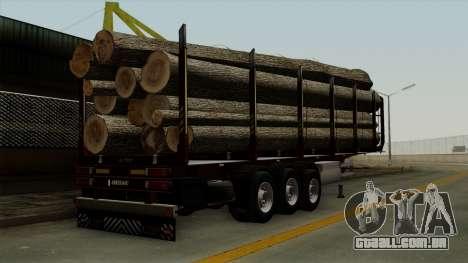 Trailer Fliegl v1 para GTA San Andreas esquerda vista