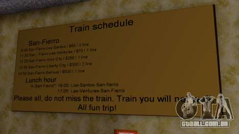 Station, em San Fierro Final para GTA San Andreas quinto tela