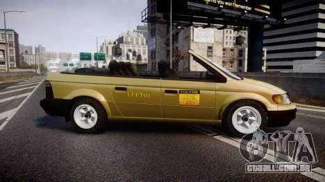 Schyster Cabby LX para GTA 4 esquerda vista