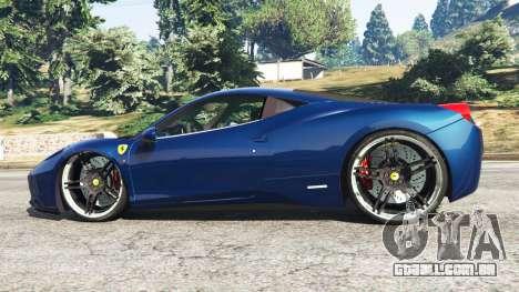 GTA 5 Ferrari 458 Italia v1.0.5 vista lateral esquerda