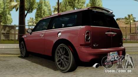 Mini Cooper Batik PaintJob para GTA San Andreas esquerda vista