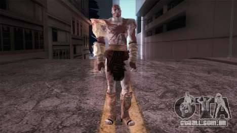 God Of War 3 Kratos Blood para GTA San Andreas segunda tela