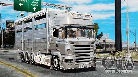 Scania R580 para GTA 4 vista de volta