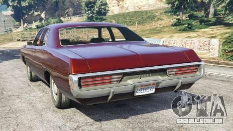 GTA 5 Dodge Polara 1971 traseira vista lateral esquerda