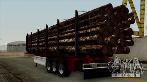 Trailer Fliegl v2 para GTA San Andreas esquerda vista