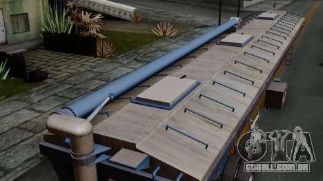 Trailer Silos para GTA San Andreas vista traseira