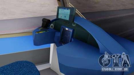 New Tram SF para GTA San Andreas traseira esquerda vista