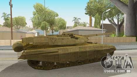 T-90MS CoD Ghost para GTA San Andreas traseira esquerda vista