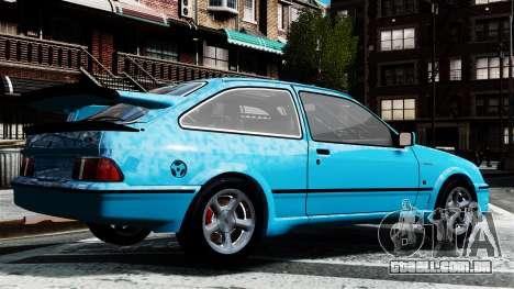 Ford Sierra RS Cosworth v2 para GTA 4 esquerda vista
