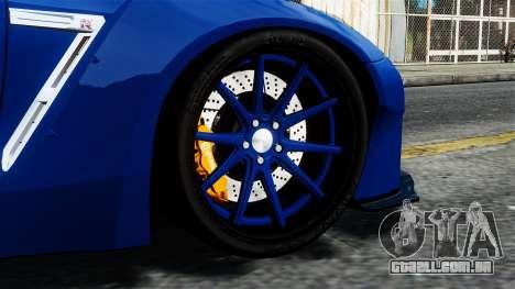 Nissan GT-R R35 Liberty Walk para GTA 4 traseira esquerda vista