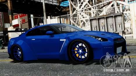 Nissan GT-R R35 Liberty Walk para GTA 4 vista de volta