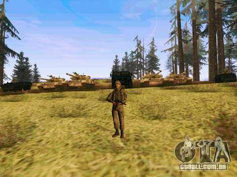 Pak combatentes das tropas especiais de GRU para GTA San Andreas quinto tela