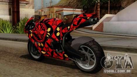 Bati Batik para GTA San Andreas traseira esquerda vista