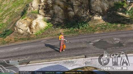 A barra de status v. 0.1 para GTA 5