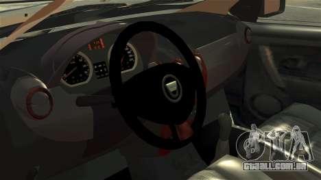 Dacia Logan MCV Stepway 2014 para GTA 4 vista de volta