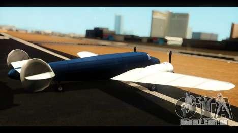 Bomber v1.0 para GTA San Andreas esquerda vista
