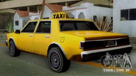 Classic Taxi Los Santos para GTA San Andreas esquerda vista