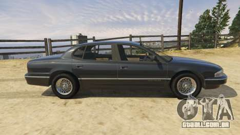 GTA 5 1994 Chrysler New Yorker traseira vista lateral esquerda