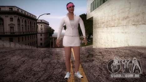 GTA 5 Amanda De Santa Tennis Skin para GTA San Andreas segunda tela