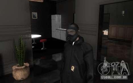 GTA5 Gasmask para GTA San Andreas sétima tela