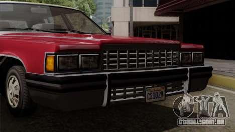 GTA 5 Albany Emperor IVF para GTA San Andreas vista direita