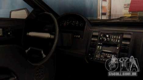 GTA 5 Cheval Fugitive IVF para GTA San Andreas vista direita