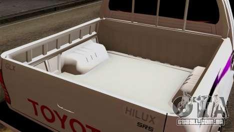 Toyota Hilux 2014 para GTA San Andreas vista interior