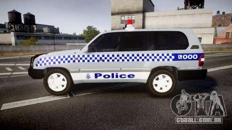 Toyota Land Cruiser 100 2005 Police [ELS] para GTA 4 esquerda vista