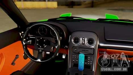 Mazda MX-5 BnSports para GTA San Andreas vista superior