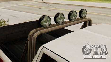 Chevrolet Silverado SA Estilo para GTA San Andreas traseira esquerda vista