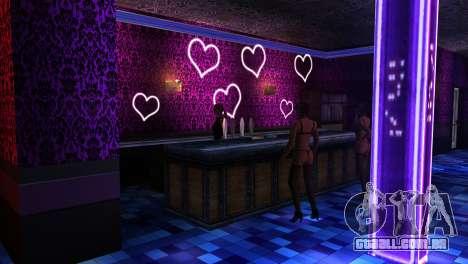 Retextured interior clubes de strip para GTA San Andreas segunda tela