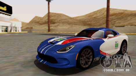 Dodge Viper SRT GTS 2013 HQLM (MQ PJ) para GTA San Andreas vista interior
