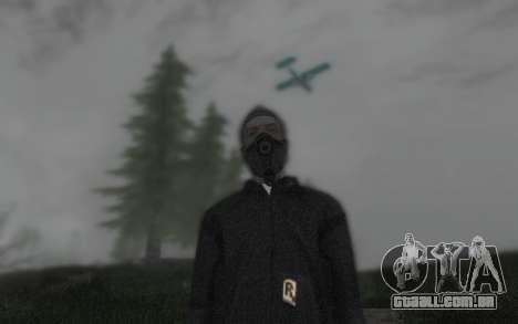 GTA5 Gasmask para GTA San Andreas por diante tela