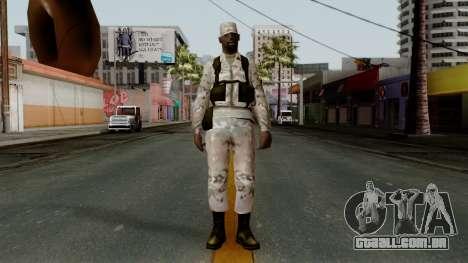 O Africano soldado Americano Multicam para GTA San Andreas segunda tela