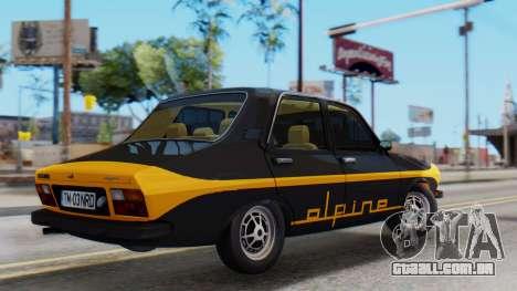 Renault 12 Alpine para GTA San Andreas traseira esquerda vista