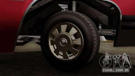 GTA 5 Albany Emperor IVF para GTA San Andreas traseira esquerda vista