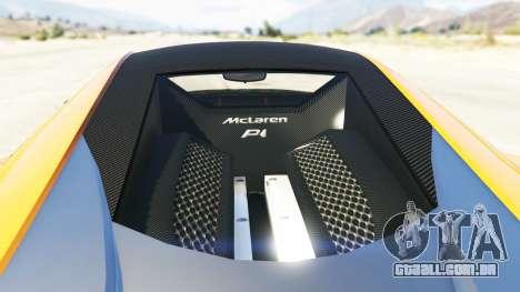 GTA 5 Progen T20 McLaren P1 voltar vista