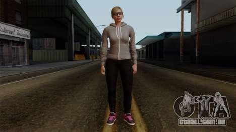 GTA 5 Online Female02 para GTA San Andreas segunda tela