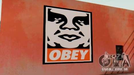 OBEY Graffiti para GTA San Andreas segunda tela