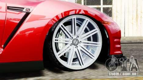 Nissan GT-R AMS 2012 para GTA 4 traseira esquerda vista
