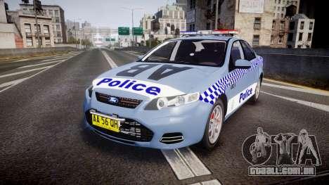 Ford Falcon FG XR6 Turbo NSW Police [ELS] v2.0 para GTA 4