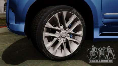 Lexus GX460 2014 v1 para GTA San Andreas traseira esquerda vista