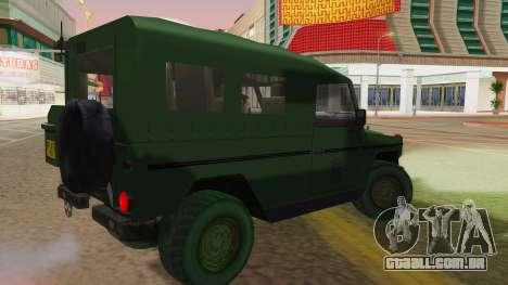 Mercedes-Benz G Wolf Croatian Army para GTA San Andreas esquerda vista