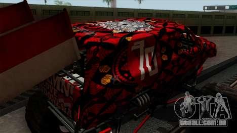 The Seventy Monster v2 para vista lateral GTA San Andreas