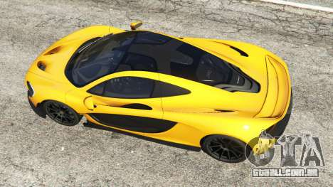 GTA 5 McLaren P1 2014 voltar vista