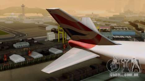 Boeing 747 British para GTA San Andreas traseira esquerda vista
