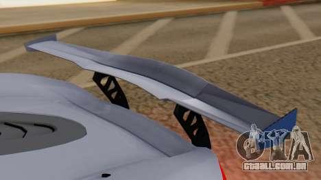 Progen T20 GTR para GTA San Andreas vista interior